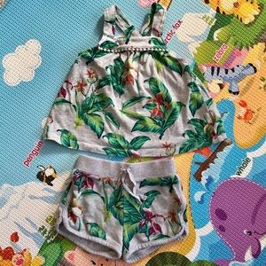 Gap Kids   matching tropical print outfit 2T